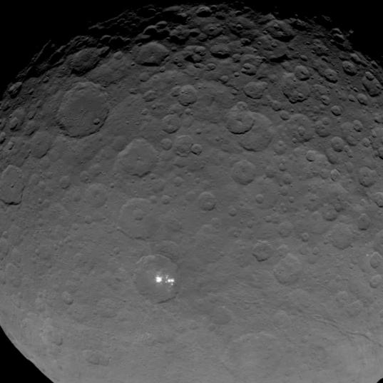 Dawn view of Ceres on May 16, 2015