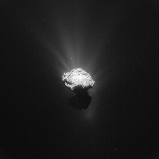 NavCam view of comet Churyumov-Gerasimenko on June 7, 2015