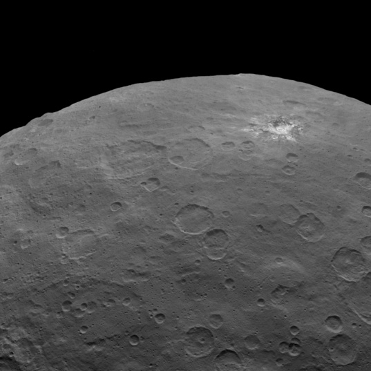 Ceres from Dawn's Survey Orbit: Bright Splotch