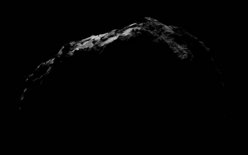 NavCam view of comet Churyumov-Gerasimenko on September 27, 2014: night excursion