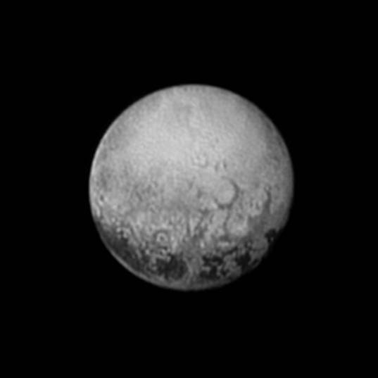 New Horizons' last sunlit view of the Charon-facing hemisphere of Pluto