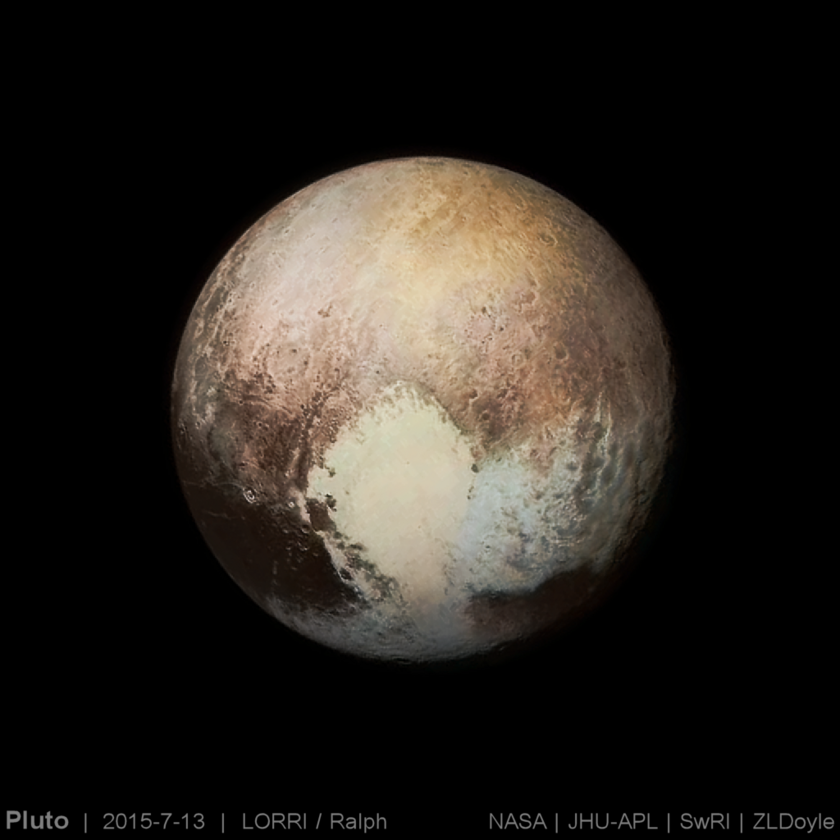 Pluto: early best guess at color