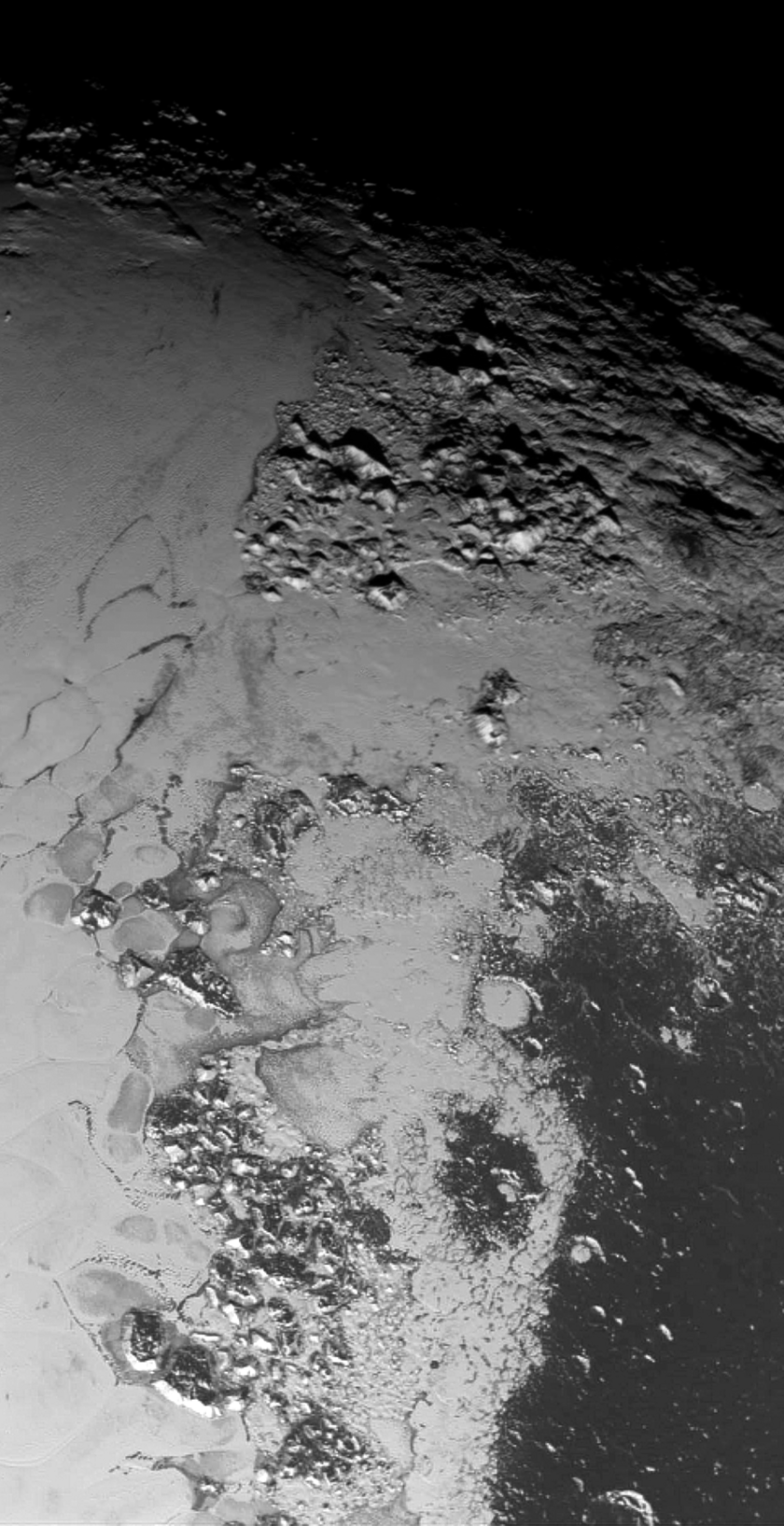 The Mountains of Tombaugh Regio