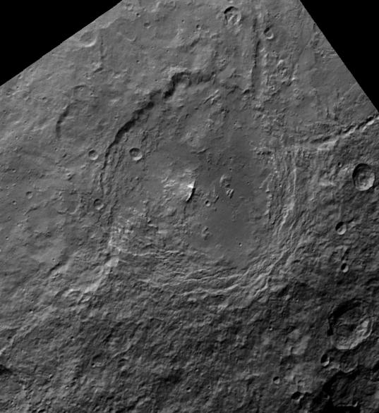 Urvara crater, Ceres, in 3D