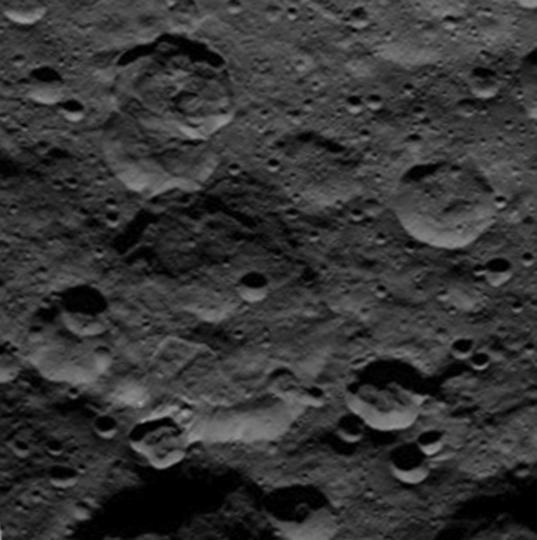 A landslide in Ceres' far north in 3D