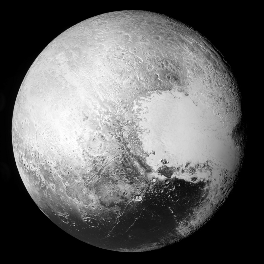 Before & After: New Horizons global view of Pluto with contrast adjustment