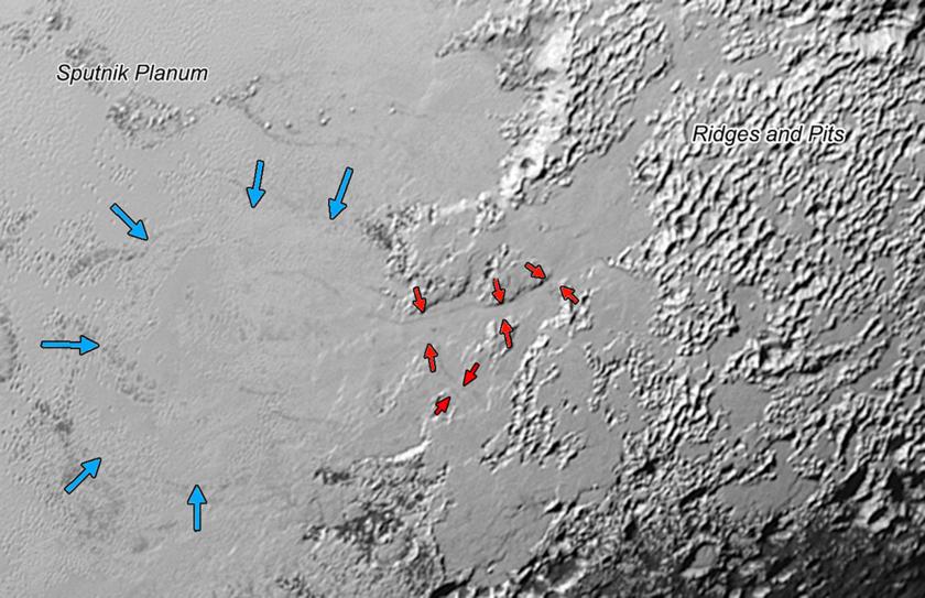 Valley glaciers on Pluto