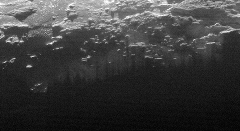 Near-surface haze or fog on Pluto