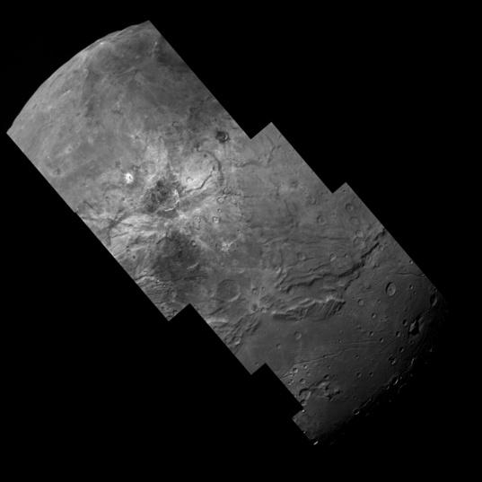 Swath across Charon