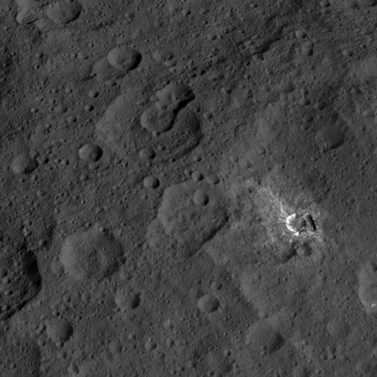 Northern hemisphere terrain on Ceres