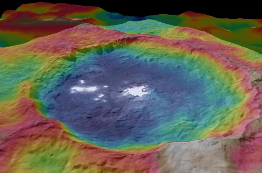 Topographic map of Occator crater