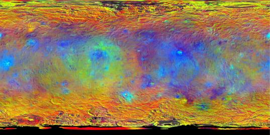 False-color map of Ceres