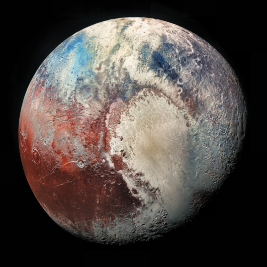 Pluto in Colorized Infrared