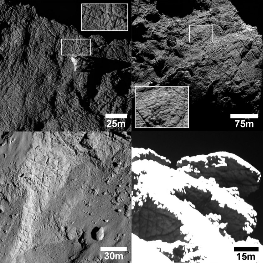 Fracture networks on 67P