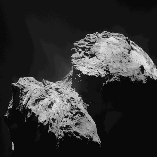 Before & After: OSIRIS image of comet 67P