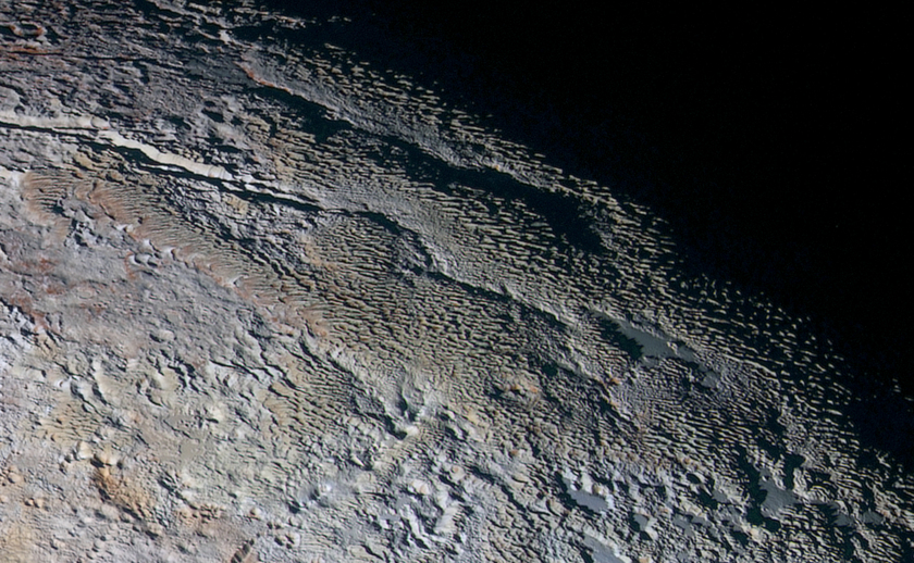 'Snakeskin' terrain on Pluto