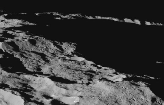 Looking over the south polar limb of Ceres