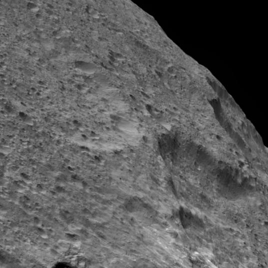 Across Ceres' limb