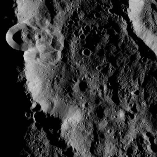 Ceres' southern high latitudes
