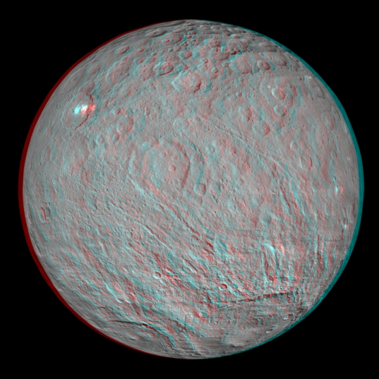 Ceres Anaglyph