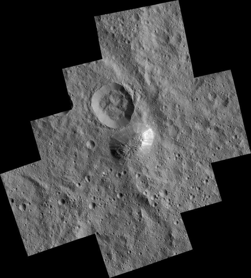 Ahuna Mons from Dawn's lowest orbit