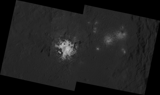 Detail view of Ceres' brightest spots