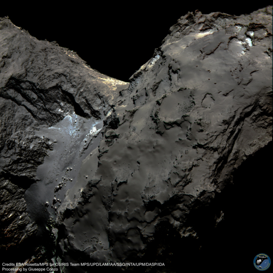 Comet 67P in color: North Polar View