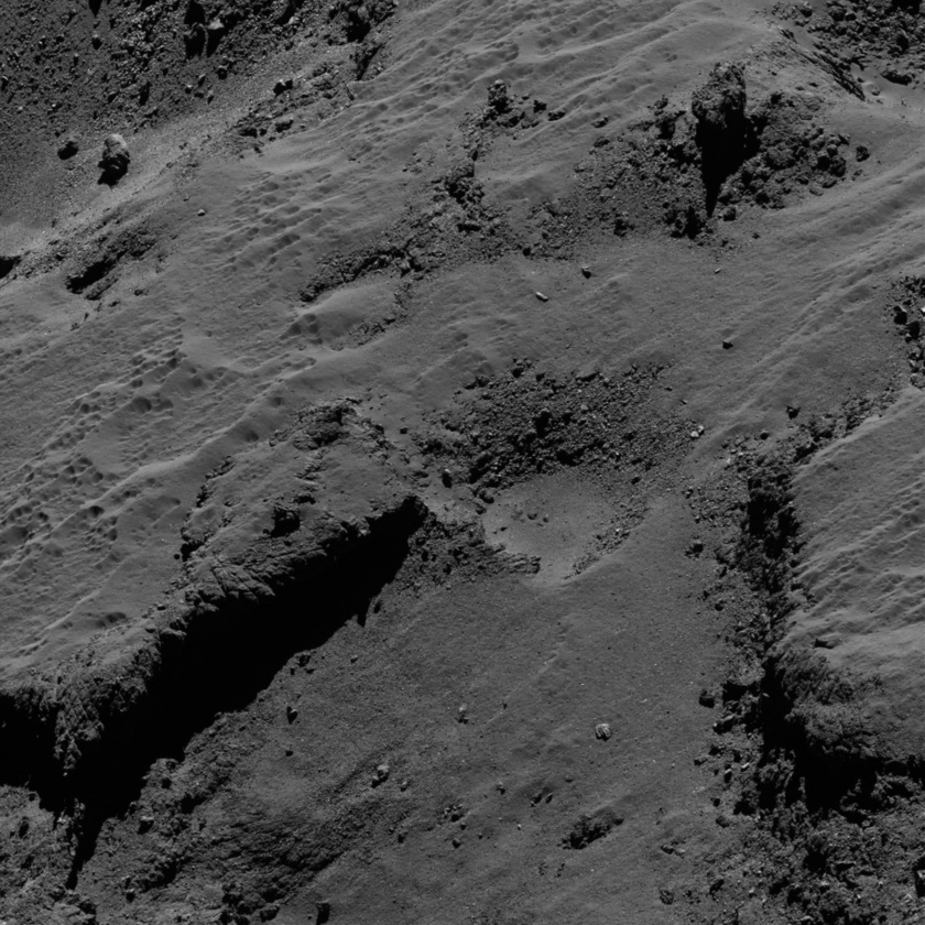 Pitted terrain on comet 67P