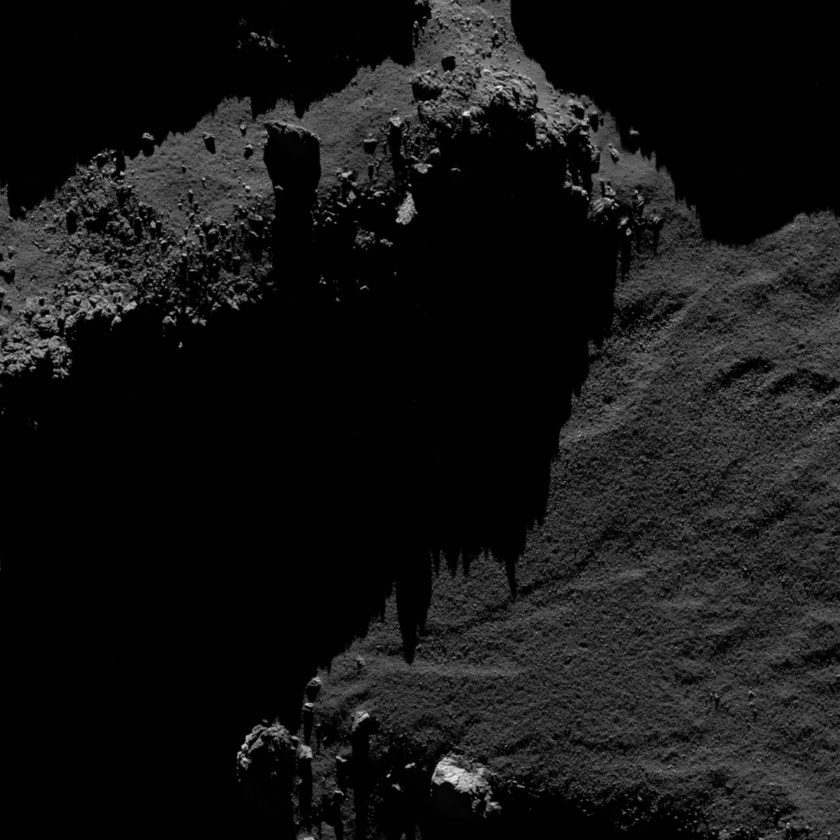 Dramatic landscape on comet 67P