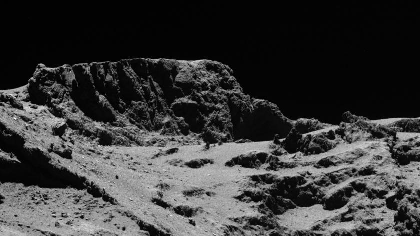 Cliff on comet 67P