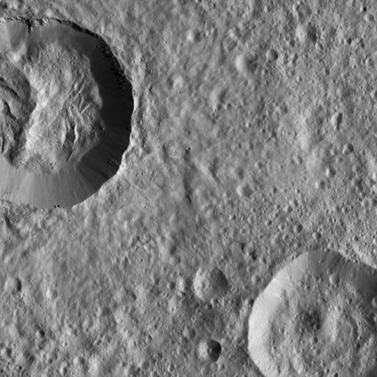 Landslide Within a Crater on Ceres