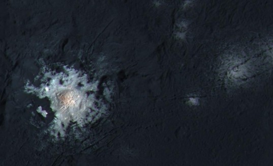 Example of the rugged terrain the salt deposits of Ceres are found on