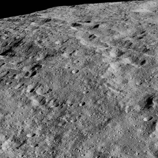 Looking across Ceres