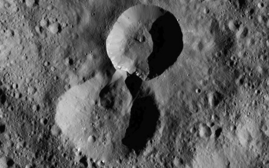 Pair of craters on Ceres