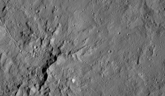 Dantu Crater's central peaks