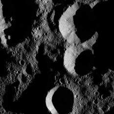 Ceres' shadowed craters