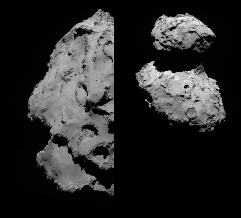 Views of the Rosetta landing site (high sun)