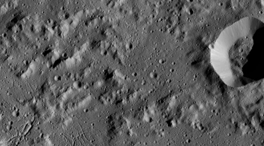Terrain within Urvara crater, Ceres