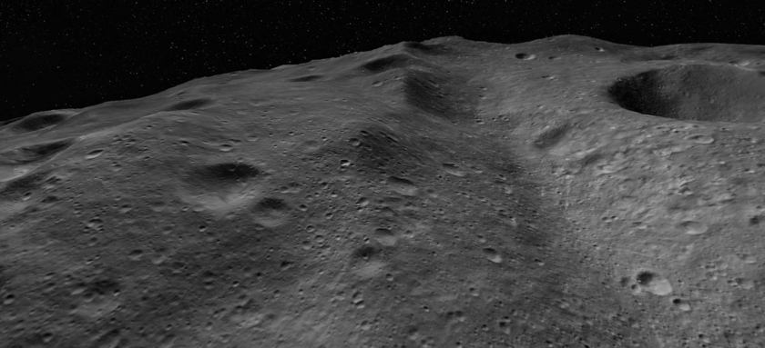 Standing on Asteroid Vesta