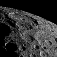 Occator crater on Ceres' limb