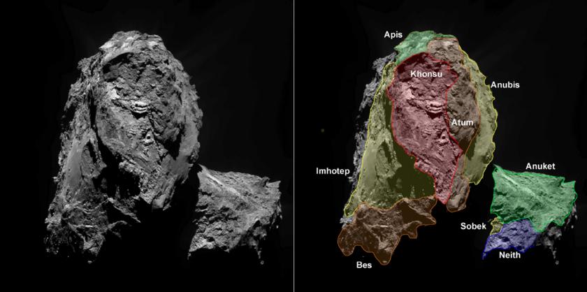 Southern hemisphere of Comet 67P