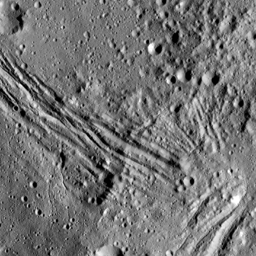 Canyons on Ceres (detail view)