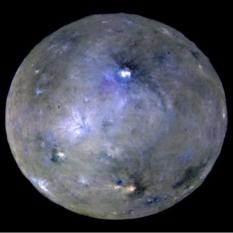 Enhanced color view of Ceres at opposition