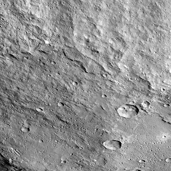 Part of Yalode Crater, Ceres