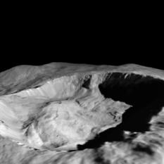 Juling Crater perspective view