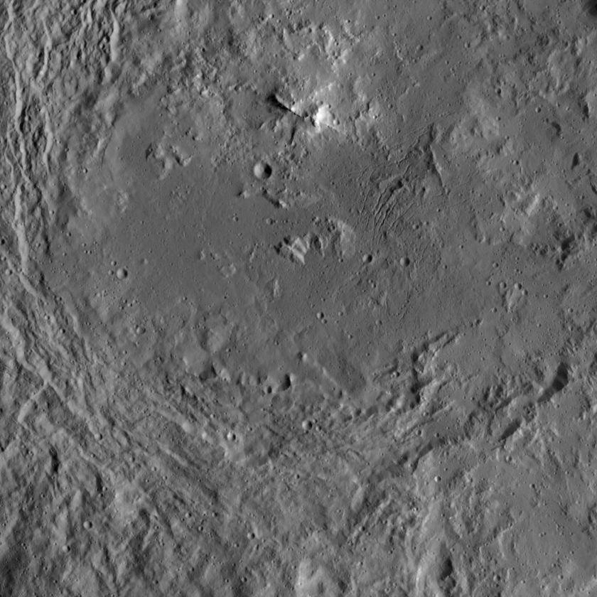 Inside Urvara Crater