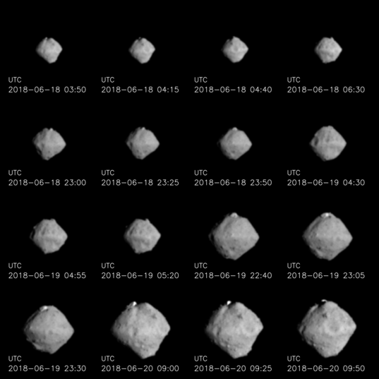 Ryugu approach images from 220 km to 100 km