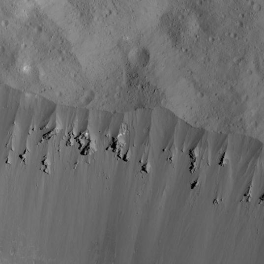 Occator Crater Rim Landslides