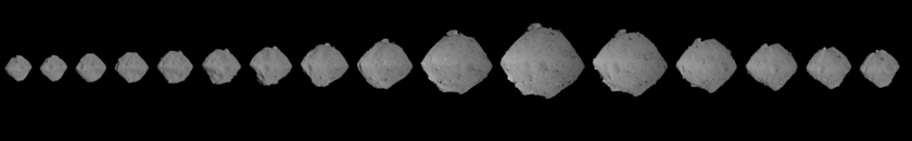 Full rotation of Ryugu from optical navigation images