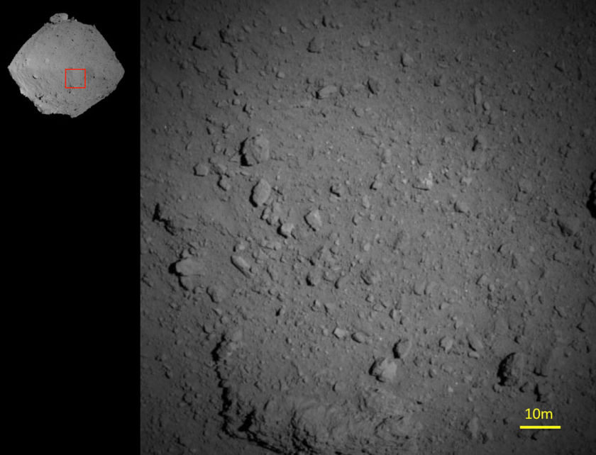 Hayabusa2 closeup on Ryugu from 1000 meters, 6 August 2018